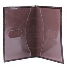 Обложка для паспорта натуральная кожа О.1.SH.коричневый
