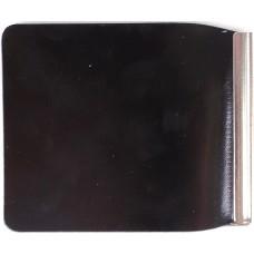 Зажим для купюр Premier-Z-1    (зажим-скрепка)    натуральная кожа черн.гладкий   (89)