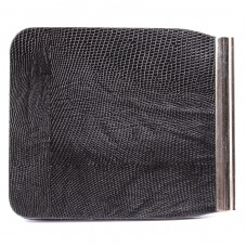 Зажим для купюр Premier-Z-1    (зажим-скрепка)    натуральная кожа черн.игуана   (100)