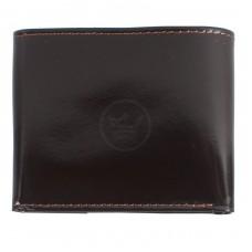 Портмоне мужское Premier-М-502 натуральная кожа 1 отд,    4 карм,    коричн.темный гладкий   (88)