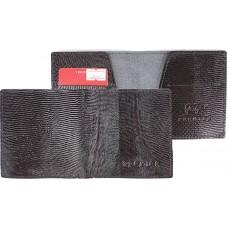 Портмоне мужское Premier-М-55 натуральная кожа 1 отд,    2 карм,    черный игуана   (100)