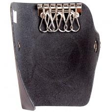 Футляр для ключей Premier-К-122   (на 6 ключей)    натуральная кожа черный шора   (49)