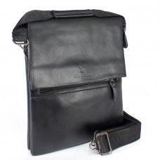 Сумка мужская искусственная кожа BF-98334-5-3В,     3отд,    2внеш+3внут карм,    плечевой ремень,    черный