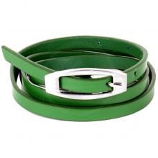 Ремень 9 мм BLACK TORTOISE жен 5700025 гладкий,    зеленый