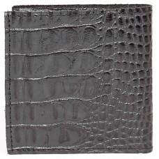 Портмоне мужское Premier-М-55 натуральная кожа 1 отд,    2 карм,    черный кайман   (126)