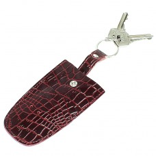 Футляр для ключей Premier-К-112 натуральная кожа бордо крокодил   (98)