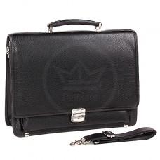 Портфель искусственная кожа Cantlor-W 4890-01,    5отд,    2внеш+4внут карм,    ключница,    плечевой ремень,    черный