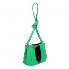 Сумка женская искусственная кожа ADEL-21/ЗФ/ММ,    1отд,    плечевой ремень,    зеленый+черн SALE