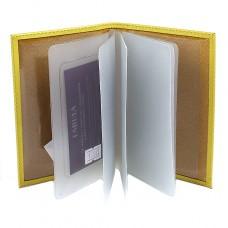Обложка для автодокументов натуральная кожа «Friends»-BV.56.CH.,    лимон