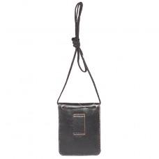 Сумка мужская натуральная кожа «Kansas»-S.1.TXF.   (м/носить на поясе) ,    1отд,     черный