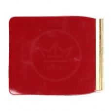 Зажим для купюр Premier-Z-1    (зажим-скрепка)    натуральная кожа красный темный гладкий   (138)