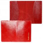 Обложка для паспорта FNX-PVS-001 натуральная кожа красный матовый   (316)