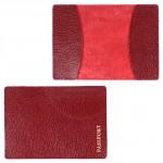 Обложка для паспорта FNX-PVS-001 натуральная кожа бордо флотер   (383)