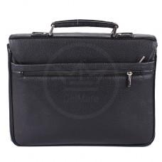 Портфель искусственная кожа Cantlor-W 1306A-01,    3отд,    3внеш+1внут карм,    портф,    плечевой ремень,    черный