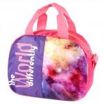 Сумка молодежная SilverTop-3280 Галактика,    1отд,    плечевой ремень,    розовый/фиолет,    космос
