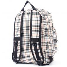 Рюкзак iBag-182,    уплотнен спинка,    1отд,    2внеш карм,    бежевый клетка