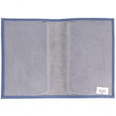 Обложка для паспорта из нат/кожи «Изящная кошка».O.31.SH.васильковый. 95х 135 мм.
