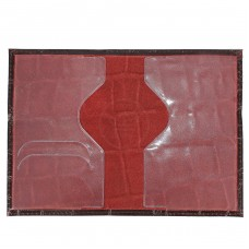 Обложка для паспорта н/к,    крок крупн;    тем.бордо;   тисн-PASSPORT