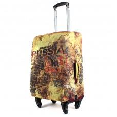 """Чехол для чемодана 24-M""""     (24""""  -70л) ,    полиэстер 100%,       (Карта)    желтый"""
