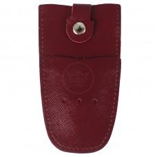 Футляр для ключей Premier-К-112 натуральная кожа бордо сафьян   (582)