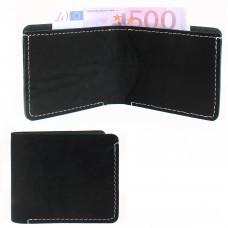 Портмоне мужское Croco-ПР-1051 натуральная кожа 1 отд,    2 карм,    черный шора   (1000)