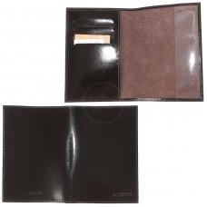 Обложка для паспорта натуральная кожа О.23.SH.   (4 внут карм) ,    коричневый