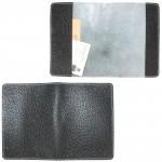 """Обложка для паспорта натуральная кожа """"  Blackwood""""   O.11.CD.черный"""