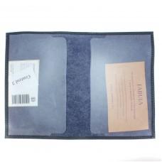 """Обложка для паспорта натуральная кожа """"  Largo""""   O.1.LG.синий"""