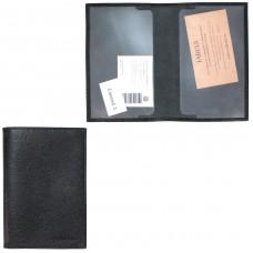 """Обложка для паспорта натуральная кожа """"  Largo""""   O.1.LG.черный"""