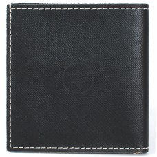 Портмоне мужское Premier-М-55 натуральная кожа 1 отд,    2 карм,    черный сафьян/бежевый сафьян   (РОЯЛ)      (589-528)