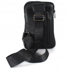 Cумка муж искусственная кожа Cantlor-L 304-5,    1отд,    2внеш+1внут/карм,    плечевой ремень,    черный