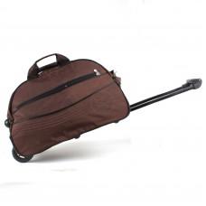 """Сумка на колесах BRK-305    (20""""  )    жатка,    1отд,    плечевой ремень,    2внеш карм,    коричневый"""