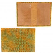 Обложка для паспорта PRT-П-21 натуральная кожа грушевый кайман