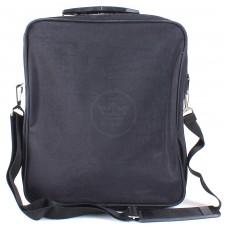 Сумка мужская текстиль BRK-015 жатка,    2отд,    3внеш карм,    плечевой ремень,    черный