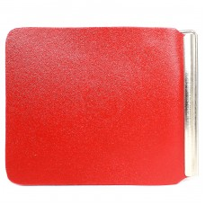 Зажим для купюр FNX-LZ-01 н/к,    красный гладкий матовый   (316)