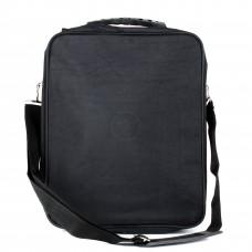 Сумка мужская текстиль BRK-018 жатка,    2отд,    2внеш карм,    плечевой ремень,    черный