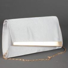 Сумка женская текстиль каркасная 17212,    1отд,    ремень-цепочка,    серебро