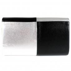 Сумка женская искусственная кожа 17065,    1отд,    ремень-цепочка,    чер/серебро
