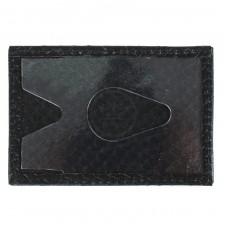 Обложка пропуск/карточка/проездной PRT-ФК-3 натуральная кожа черный питон