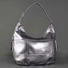 Сумка женская искусственная кожа GR-1629,    1отд+карм/пер,    тем.серебро
