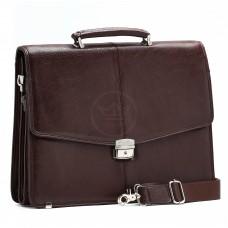 Портфель искусственная кожа Cantlor-W 417-02,    7отд,    1внеш+1внут карм,    карандашник,    портфельный замок,    коричневый