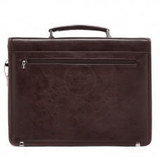 Портфель искусственная кожа Cantlor-W 4890-02,    5отд,    2внеш+4внут карм,    ключница,    плечевой ремень,    коричневый