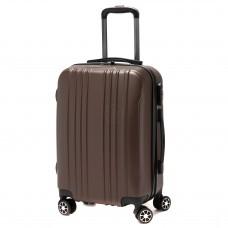 """Чемодан 20""""   Картекс-   (28л) ,    0209 ABS,    4 колеса,    пластик,    коричневый"""