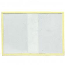Обложка для паспорта PRT-П-21 натуральная кожа лимон орфей