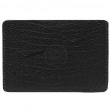 Обложка-чехол для паспорта PRT-П-24 натуральная кожа черный бизон