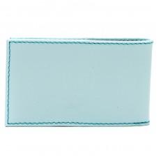 Визитница PRT-ФВ-1   (18 листов)    натуральная кожа голубой ария ривьера