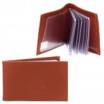 Визитница PRT-ФВ-1   (18 листов)    натуральная кожа бертоне мадрас оранжевый