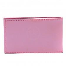 Визитница PRT-ФВ-1   (18 листов)    натуральная кожа розовый престиж наплак