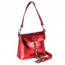 Сумка женская натуральная кожа RM-3248,    1отд+карм/пер,    плечевой ремень,    красный