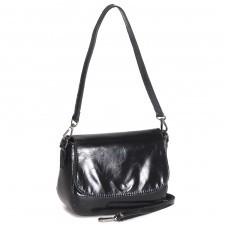 Сумка женская натуральная кожа RM-8620,    1отд+карм/перег,    плечевой ремень,    черный
